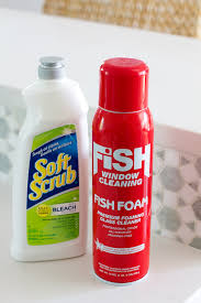 fish foam and soft scrub with bleach how to clean white quartz countertops
