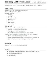Highschool Resume Examples High School Resume Samples Inspirational