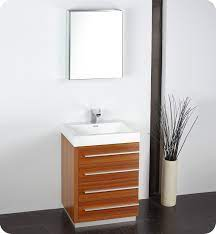 Fresca Fvn8024tk Livello 24 Modern Bathroom Vanity With Medicine Cabinet In Teak