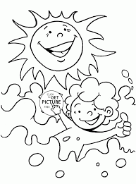 Small Picture Summer Sun and Water coloring page for kids seasons coloring