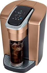 However, you can also add milk or even flavoring to prepare your cup: Keurig K Elite Single Serve K Cup Pod Coffee Maker Brushed Copper 5000203821 Best Buy