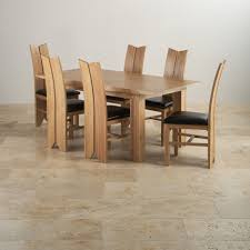 oak dining table and chairs. Oak Dining Table And Chairs Awesome Tokyo Set In 6 Tulip Black Leather Within 9