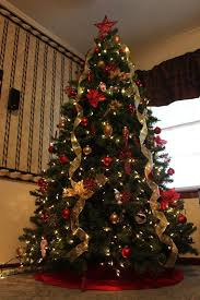 christmas trees decorated in red and gold. Wonderful And Eff14f03cf7a9fd2f0154393028be34a Intended Christmas Trees Decorated In Red And Gold A