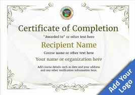 templates for certificates of completion certificate of completion free quality printable templates