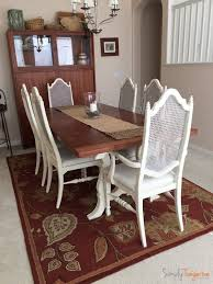 finally updated antique thomasville dining table and chairs chalk paint redo