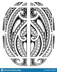 татуировка рукава в маорийском этническом стиле иллюстрация вектора