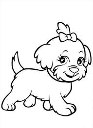 Coloring Puppy Color Pages On Design Picture Coloring Page