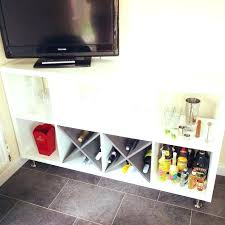 kitchen wine rack home bar made from legs added on cabinet ikea glass holder under