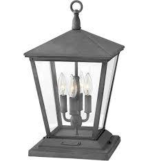 Outdoor Pier Mount Light Fixtures Hinkley Lighting Trellis 19 75 Inch Outdoor Pier Mount With Clear Glass