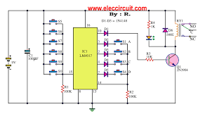 simple key code lock switch circuit using ic 4017 key code lock switch circuit