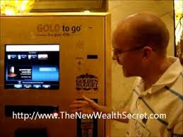 Gold Bar Vending Machine Las Vegas Fascinating Gold Assets For Cash From ATM In Las Vegas YouTube