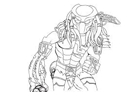 Small Picture Alien vs Predator Coloring Pages Predator Line Art by