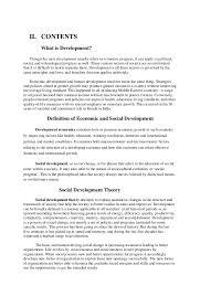 economic and social indicators of development 2