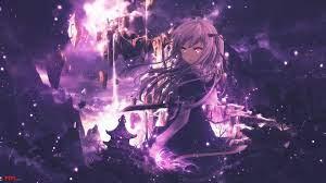 Hình ảnh anime girl tóc tím cho bạn gái yêu gam màu Purple