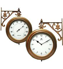 outdoor wall clock and thermometer outdoor