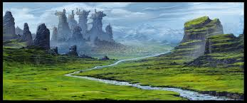 Fantasy Landscape - Finished the detailing : DigitalPainting