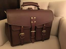my full grain leather briefcase