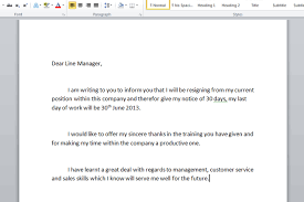 Job Resignation Letter Format In Word Letter Idea 2018