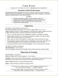 Sample Resumes For Sales Insurance Sales Resume Sample