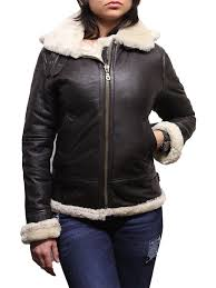 las women s hooded aviator real shearling sheepskin flying leather jacket coat callie jpg