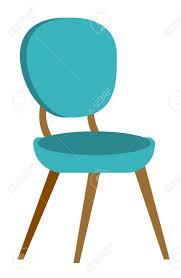 Chaise Confortable Moderne Bleu Pour Bureau Et Maison Illustration ...