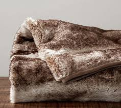 Faux Fur Throw Blanket Pottery Barn