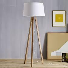 tripod wood floor lamp  west elm au