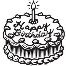 birthday cake clip art black and white. Perfect White Vector And Happy Birthday Cake Black And White 7863 Favorite  Graphic  Freeuse Library Throughout Clip Art I
