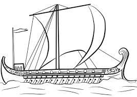 Schip Van Odysseus Kleurplaat Gratis Kleurplaten Printen