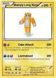 Small Picture Pokmon Stampy Long Nose 7 7 Cake Attack My Pokemon Card