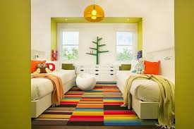view in gallery bright and cheerful kids room with twin beds seems super fun thanks to the multi