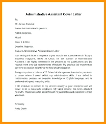 Admin Cover Letters Cover Letter Template Administrative Assistant ...