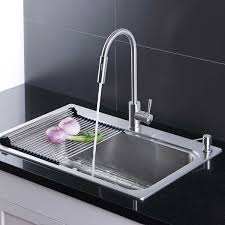 Afa Stainless Single Bowl 33 Dual Mount Kitchen Sink Faucet Combo
