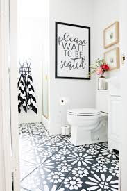 diy painted stencil bathroom floor