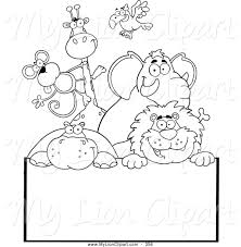 zoo sign clip art black and white. Interesting Art Intended Zoo Sign Clip Art Black And White C