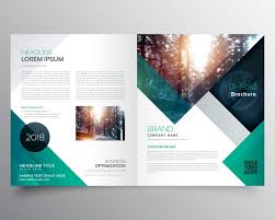brochure template green business brochure template vector free download