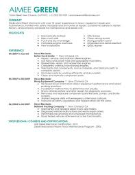 Mechanic Resume Example Cover Letter Sample