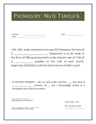 Sample Mortgage Promissory Note Or Mortgage Document Template Iou