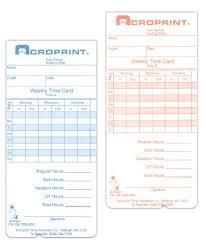 Bi Weekly Time Card Atr240 360 Weekly Bi Weekly Time Card Acroprint Time Recorder Co