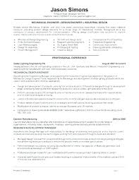 Mechanical Design Engineer Resume Samples Mechanical Engineer Resume Examples Emelcotest Com