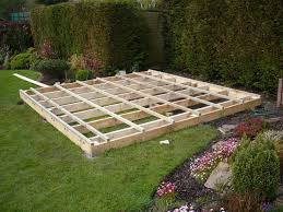 the timber frames are ideal for creating a bigger platform from which you can extend out to decking works or a seating area