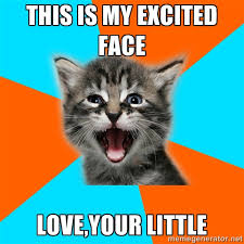 THIS IS MY EXCITED FACE Love,your little - Ib Kitten | Meme Generator via Relatably.com