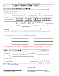 credit card authorization form templates formats examples in credit card authorization form template 9748