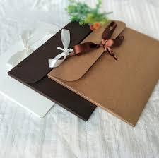 Custom Thick Kraft Paper Ribbon Invitation Card Diy Envelope Buy