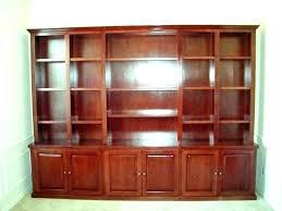 wood and glass bookshelf shelves with doors bookcase door ashley furniture