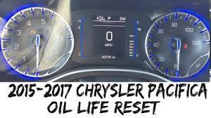 2017 Chrysler Pacifica Dashboard Lights 2015 2017 Chrysler Pacifica Oil Life Reset Maintenance Reminder