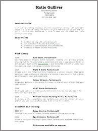 Bank Resume Template Curriculum Vitae Format For Curriculum Vitae