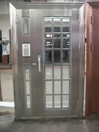 metal exterior doors with solid tempered glass