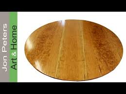 how to make a round table top out of solid cherry wood