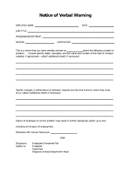 Sample Verbal Warning Letter Template Free Word Document Downloads